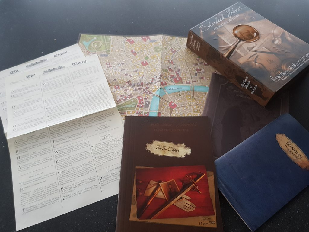 Board Game Review: Sherlock Holmes Consulting Detective: Case 2: The Tin Soldier