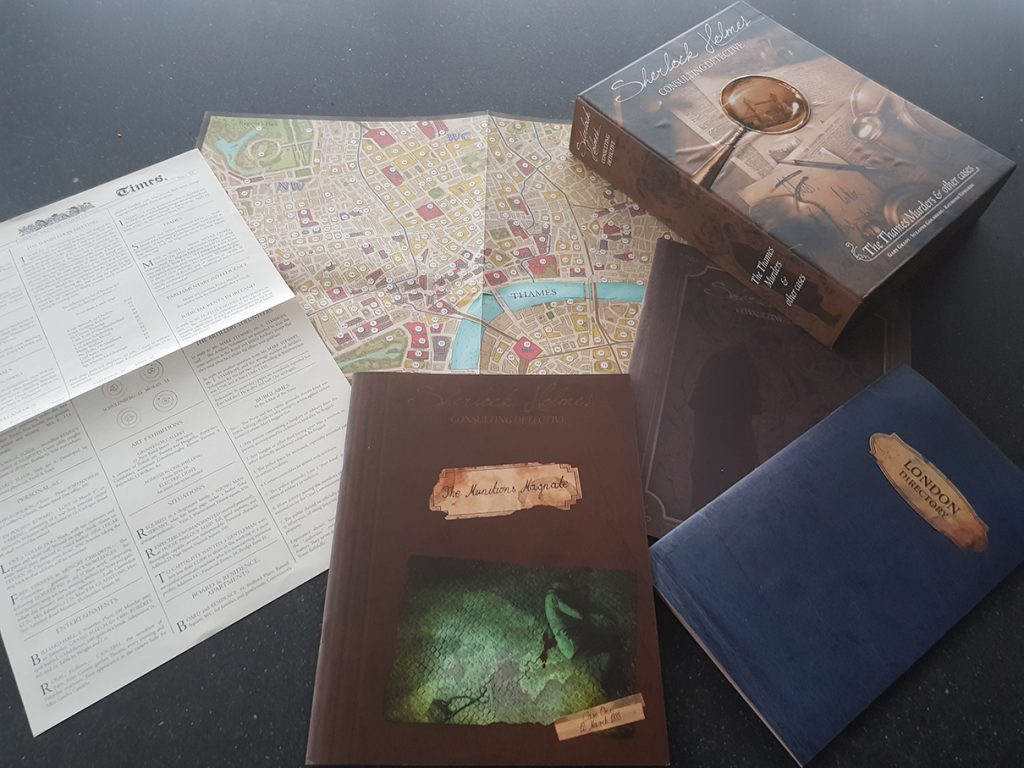 Board Game Review: Sherlock Holmes Consulting Detective: Case 1: The Munitions Magnate