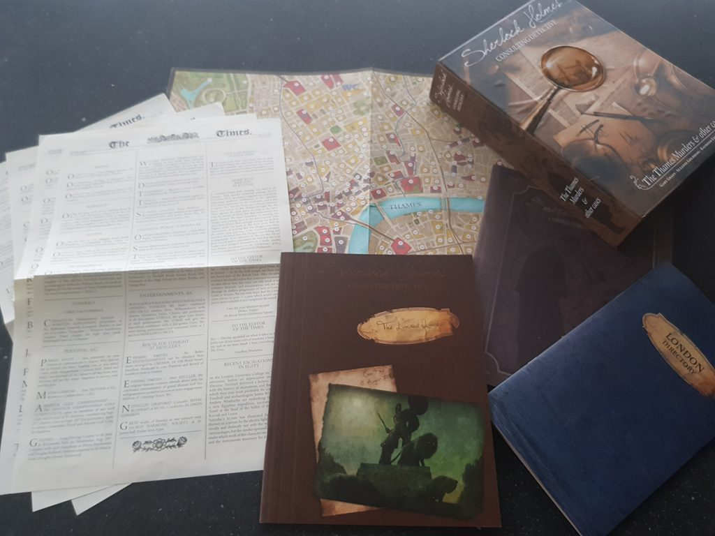 Board Game Review: Sherlock Holmes Consulting Detective: Case 4: The Lionized lions