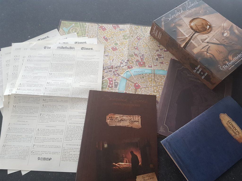 Board Game Review: Sherlock Holmes Consulting Detective: Case 5: The Cryptic Corpse