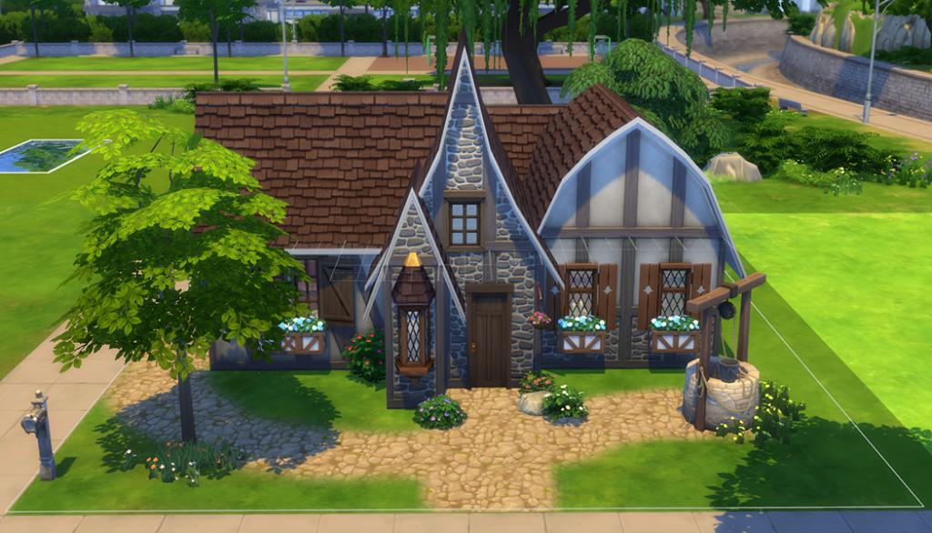 Sims 4: Medieval Cottage (no cc)