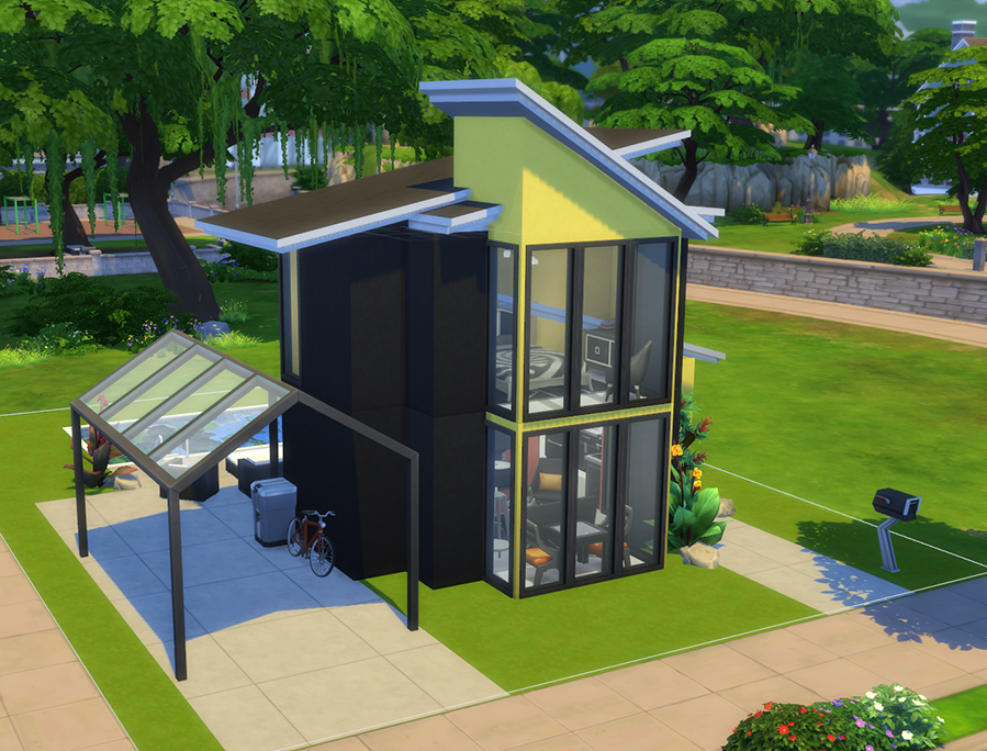 Sims 4: Modern Tiny House (no cc)